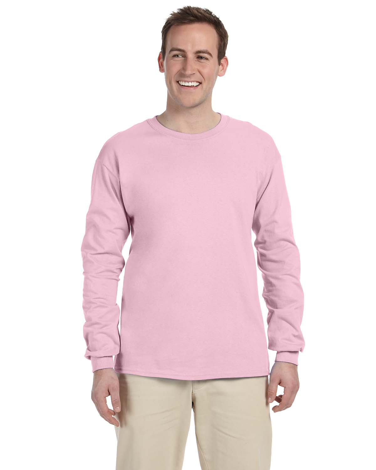Fruit Of The Loom Men's Hd Cotton Long Sleeve Tee Shirt, 4930, S ...