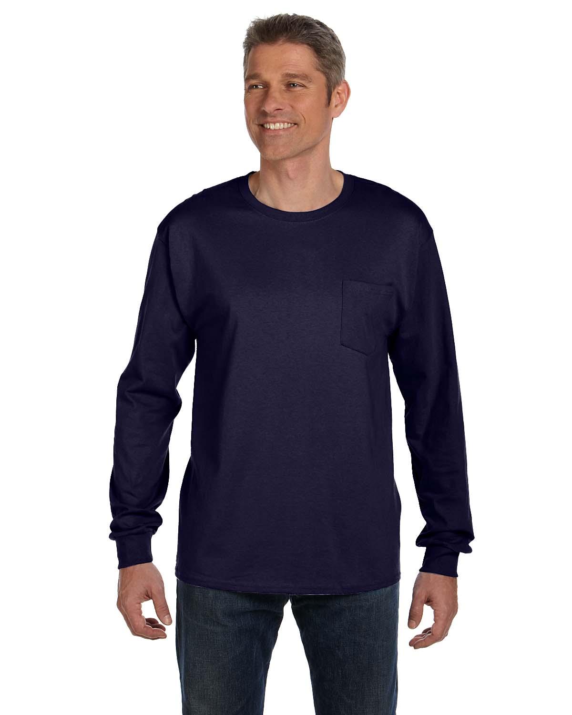 79704c7fb5a 5596 Hanes Men s 6 Tagless Comfortsoft Long-Sleeve Pocket T-Shirt S-2XL 1 Oz
