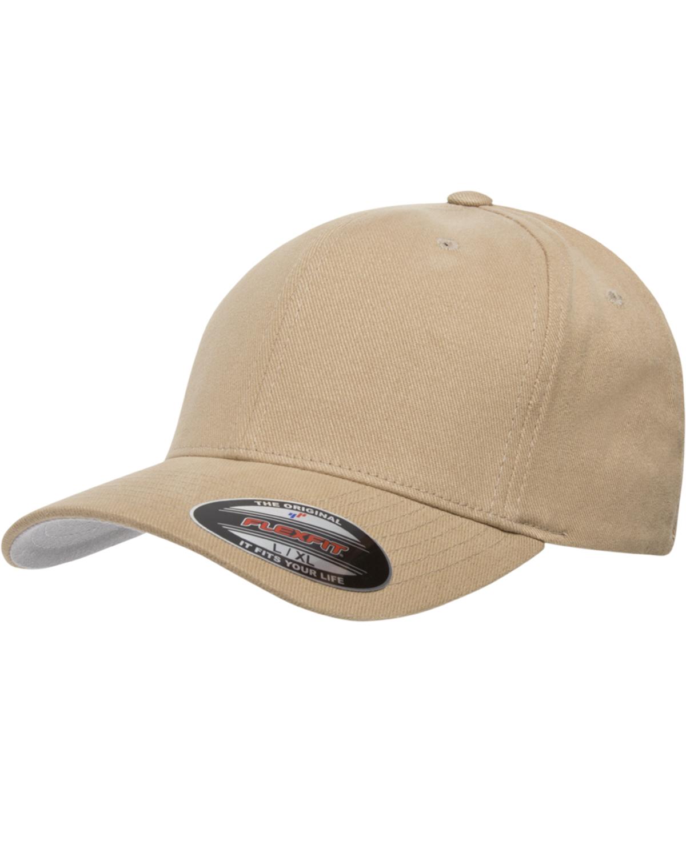 014592069ff Flexfit Men s 6-Panel Brushed Fitted Plain Twill Cap